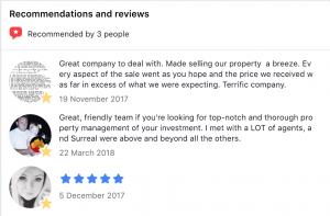 facebook review of property management at surreal property group